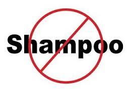 No shampoo sign