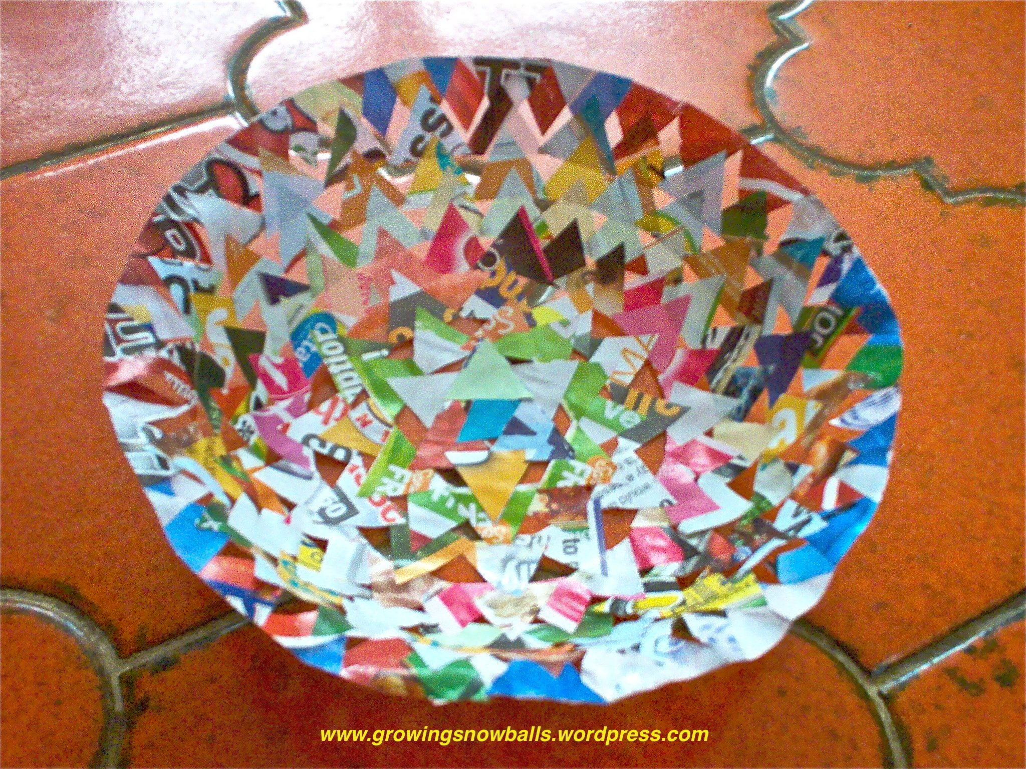 How to make a bowl with a craft hole punch in 6 easy steps for Easy wealth out of waste