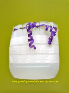 Plastic pouch woven with plastic tape