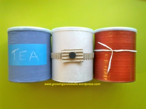 Coffee Canisters Covered
