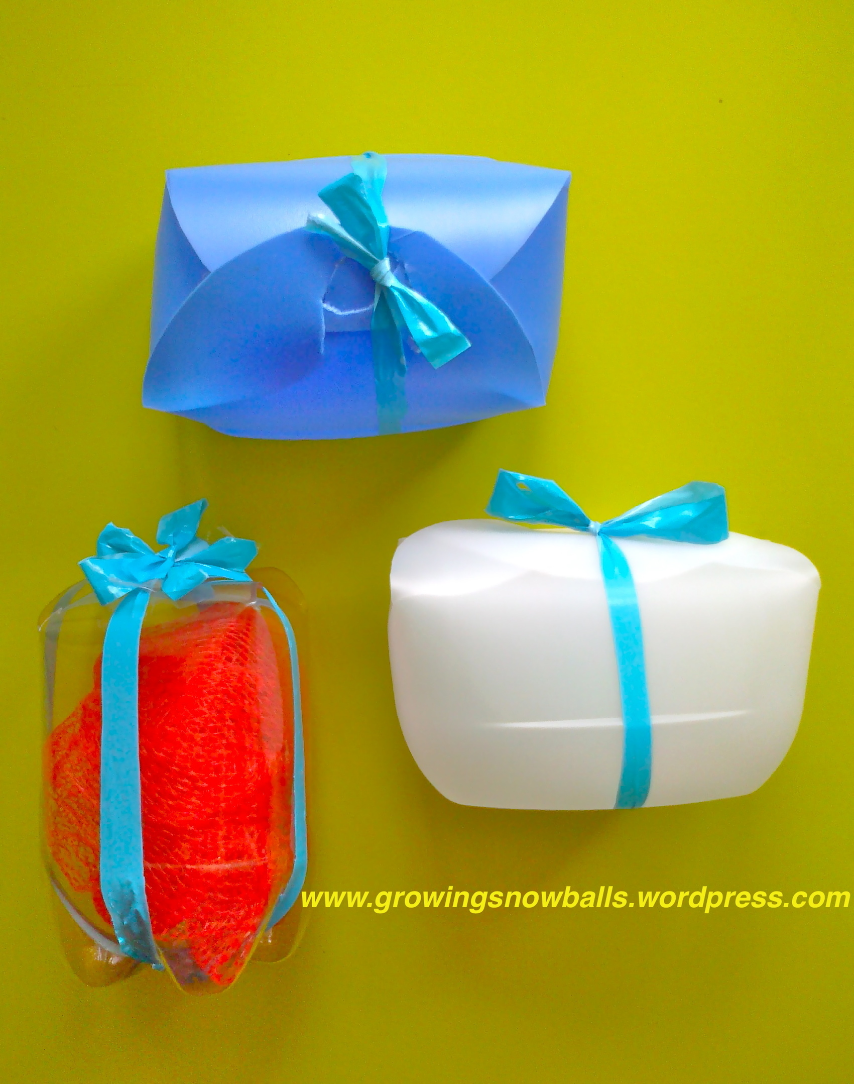 how to make a gift box with plastic bottles growing
