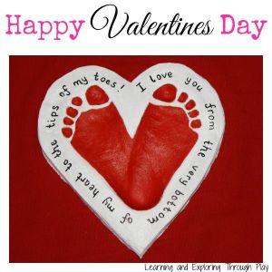 Valentines Foot Print